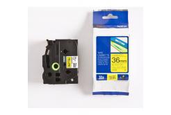 Brother TZ-661 / TZe-661, 36mm x 8m, fekete nyomtatás / sárga alapon, eredeti szalag