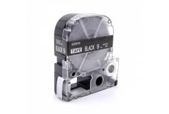 Epson LC-SD9KW, 9mm x 8m, fehér nyomtatás / fekete alapon, utángyártott szalag