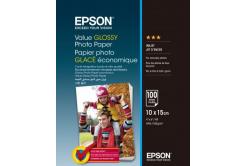 Epson S400039 Value Glossy Photo Paper, fényes fehér fotópapírok, 10x15cm, 183 g/m2, 100 db