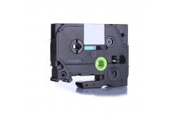 Brother TZ-FX425 / TZe-FX425, 9mm x 8m, flexi, fehér nyomtatás / piros alapon, kompatibilis szalag