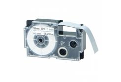 Casio XR-18WE1, 18mm x 8m fekete nyomtatás / fehér alapon, kompatibilis szalag