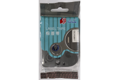 Samolepicí szalag Supvan L-521E, 9mm x 8m, fekete nyomtatás / kék alapon, laminált