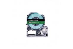 Epson LC-SD24GW, 24mm x 8m, fehér nyomtatás / zöld alapon, utángyártott szalag