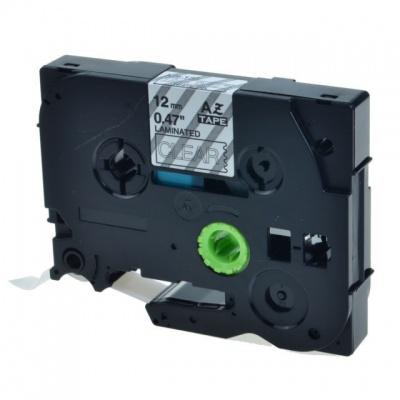 Brother TZ-135 / TZe-135, 12mm x 8m, fehér nyomtatás / átlátszó alapon, kompatibilis szalag