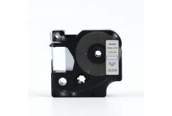 Dymo 45011, S0720510, 12mm x 7m kék nyomtatás / átlátszó alapon, kompatibilis szalag