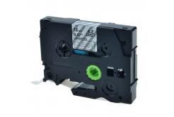 Brother TZ-S135 / TZe-S135, 12mm x 8m, extr.adh. fehér nyomtatás / átlátszó alapon, kompatibilis szalag