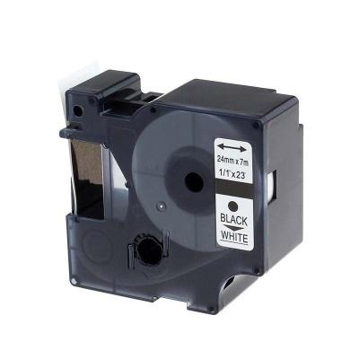 Dymo 53713, S0720930, 24mm x 7m, fekete nyomtatás / fehér alapon, kompatibilis szalag