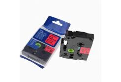 Brother TZ-431 / TZe-431, 12mm x 8m, fekete nyomtatás / piros alapon, kompatibilis szalag