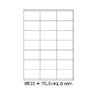 Öntapadós címkék 70 x 41 mm, 21 db / A4, 100 lap