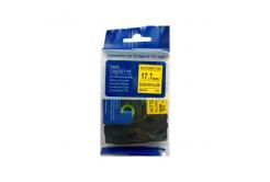 Brother HSe-641 17,7mm x 1,5m, fekete nyomtatás / sárga alapon, kompatibilis szalag