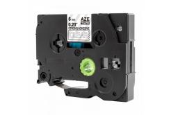 Brother TZ-S115 / TZe-S115, 6mm x 8m, extr.adh. fehér nyomtatás / átlátszó alapon, kompatibilis szalag