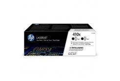 HP 410X CF410XD 2 db fekete (black) eredeti toner
