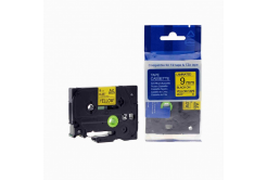 Brother TZ-621 / TZe-621, 9mm x 8m, fekete nyomtatás / sárga alapon, kompatibilis szalag