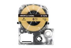 Epson LC-SM6ZW, 6mm x 8m, fekete nyomtatás / arany alapon, kompatibilis szalag