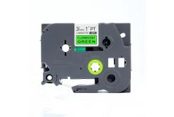 Brother TZ-D51/TZe-D51, rikítós 24mm x 8m, fekete nyomtatás/zöld alapon, kompatibilis szalag