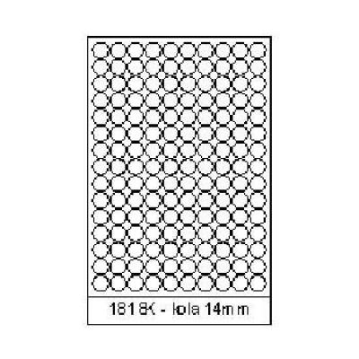 Öntapadós címkék 18 x 18 mm, 150 db / A4, A4, 100 lap