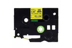 Brother HSe-631 11,7mm x 1,5m, fekete nyomtatás / sárga alapon, kompatibilis szalag