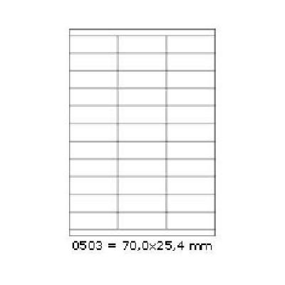 Öntapadós címkék 70 x 25,4 mm, 27 db / A4, 100 lap
