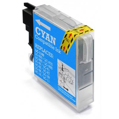 Brother LC-980/LC-1100 cián (cyan) kompatibilis tintapatron