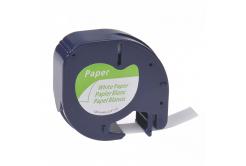 Dymo 59421, S0721500, 12mm x 4m, fekete nyomtatás / fehér alapon, kompatibilis szalag