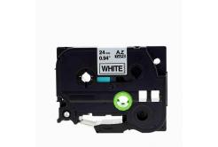 Brother TZe-V251, 24mm x 5,5m, fekete nyomtatás / fehér alapon, vinyl, kompatibilis szalag