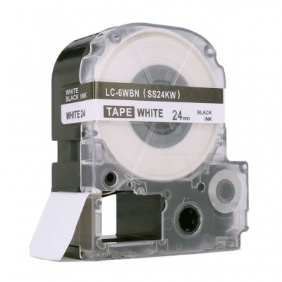 Epson LC-SS24KW, 24mm x 8m, fekete nyomtatás / fehér alapon, kompatibilis szalag