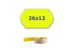 Cenové címkék do kleští, 26mm x 12mm, 900 db, signální sárga