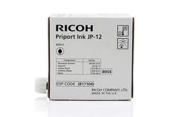 Ricoh eredeti tintapatron JP 12, black, 600ml, 817104, Ricoh DX3240, 3440, JP1210, 1215, 1250, 1255, 3000