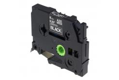 Brother TZ-315 / TZe-315, 6mm x 8m, fehér nyomtatás / fekete alapon, kompatibilis szalag
