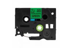 Utángyártott szalag Brother TZ-S731/TZe-S731 12mm x8m erősen ragadó, fekete nyomtatás / zöld alapon