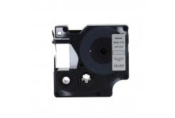 Dymo 45812, 19mm x 7m fekete nyomtatás / sezüst alapon, kompatibilis szalag