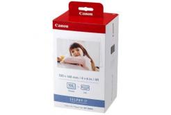 Canon KP108IN Color Ink Paper Set, 10x15cm, fotópapírok, 108 db, fényes, fehér