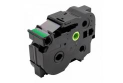 Brother TZ-S751 / TZe-S751, 24mm x 8m, extr.adh. fekete nyomtatás / zöld alapon, kompatibilis szalag