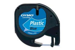 Dymo LetraTag 59426,S0721600 / S0721650 12mm x 4m,fekete nyomtatás / kék alapon, eredeti szalag