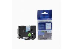 Brother TZ-253 / TZe-253, 24mm x 8m, kék nyomtatás / fehér alapon, kompatibilis szalag