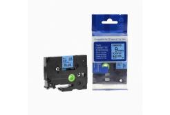 Brother TZ-521 / TZe-521, 9mm x 8m, fekete nyomtatás / kék alapon, kompatibilis szalag
