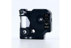 Dymo 45021, S0720610, 12mm x 7m fehér nyomtatás / fekete alapon, kompatibilis szalag