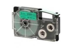 Casio XR-12GN1, 12mm x 8m, fekete nyomtatás / zöld alapon, eredeti szalag