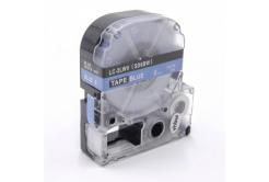 Epson LC-SD6BW, 6mm x 8m, fehér nyomtatás / kék alapon, utángyártott szalag
