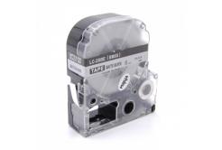 Epson LC-SM6X, 6mm x 8m, fekete nyomtatás / matt ezüst alapon, kompatibilis szalag