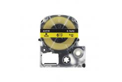 Epson LC-SC6YW, 6mm x 8m, fekete nyomtatás / sárga alapon, kompatibilis szalag
