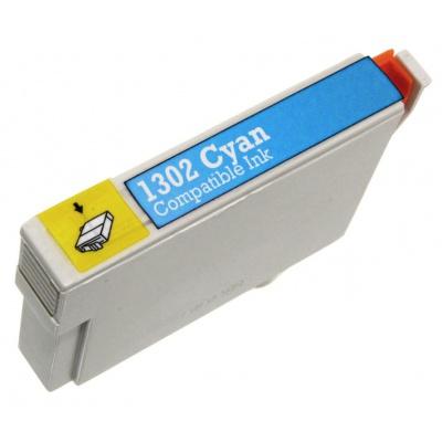 Epson T1302 cián (cyan) kompatibilis tintapatron