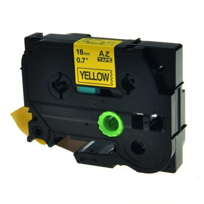 Brother TZe-V641, 18mm x 5,5m, fekete nyomtatás / sárga alapon, vinyl, kompatibilis szalag