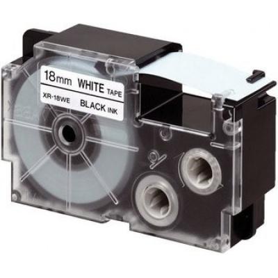 Casio XR-18X1, 18mm x 8m, fekete nyomtatás / átlátszó alapon, eredeti szalag