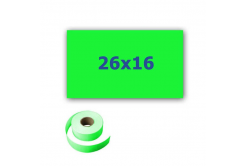Cenové címkék do kleští, obdélníkové, 26mm x 16mm, 700 db, signální zöld