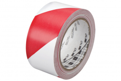 3M 767 PVC szalag fehér-piros, 50 mm x 33 m