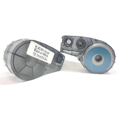 Brady M21-750-499 / 110895, Nylon Cloth, 19.05 mm x 4.88 m, fekete nyomtatás / fehér alapon, kompatibilis szalag