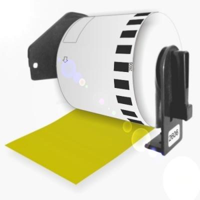 Brother DK-22606, 62mm x 15,24m, sárga, kompatibilis filmszerepe