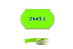 Cenové címkék do kleští, 26mm x 12mm, 900 db, signální zöld