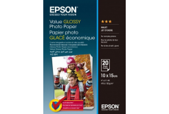 Epson S400037 Value Glossy Photo Paper, fehér fényes fotópapírok 10x15cm, 183 g/m2, 20 db